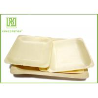 Buy cheap 3.5 Inch Bamboo Biodegradable Plates , Small Square Dinner Plates For Dessert from wholesalers