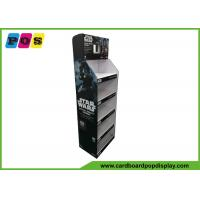 Five Shelves Cardboard Retail Display , 7 Inch LCD Screen Shop Display Stands For Star Wars Toys FL194