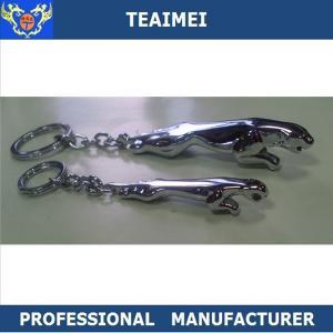 Best Car 3D Logo Keyring Jaguar Cool Car Keychains Custom Silver Chrome wholesale