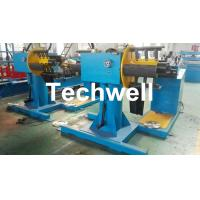 Best Manual / Passive Type Uncoiler Machine With Rotary Double Head Mandrel For Supporting The Coil Strip wholesale