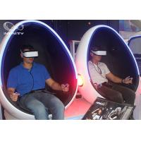 Best Interactive 2 Double Seats Roller Coaster Game Simulator 9D VR Egg Chair Fiber Glass With Metal wholesale