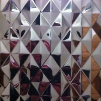 Best SUS304 Embossed Stainless Steel Sheets ,PVD Color Decoration Sheets 1250mm 1500mm Rose gold, Brown, Bronze wholesale