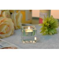 Best Square Colored Glass Votive Candle Holders , Glass Tealight Holders wholesale