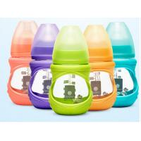 Cheap Customized Silicone Sleeve Baby Milk Bottle Glass High Temperature Resistant for sale