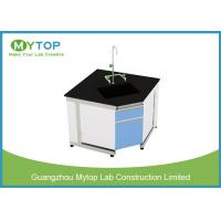 Buy cheap Steel And Wood Modern Lab Furniture Conner Lab Desk With PP Sink And Water Tap from wholesalers
