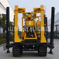 China Portable crawler type easy to start without hurting the road surface rig hydraulic slide frame type water well on sale
