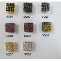 Best Colorful Alloy Crystal Pave Square Charms For Shamballa Bracelets 10mm OEM wholesale