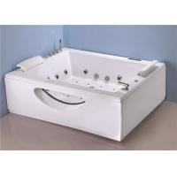 Best Big Jacuzzi Whirlpool Bath Tub T Shape Water Inlet With Cold / Hot Water Switch wholesale
