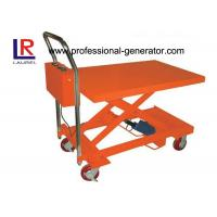 Buy cheap Heavy Duty Hydraulic Mini Scissor Small Electric Lift Table 860MM Lift Height from wholesalers