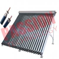 Best 45 Degree Heat Pipe Solar Collector With Stainless Bolts Silver Manifold Color wholesale