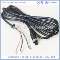 Best 7 Pin 3 Terminal Extension Cable For Security Cameras , Black PVC Material wholesale