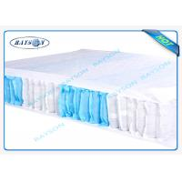 Best 70 Gram White / Blue Color 47cm Width PP Non Woven Fabric For Box Spring Cover wholesale