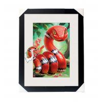 Best Amazing 5D 30*40CM Lenticular Picture With PS Frame / 3D Animal Images wholesale