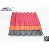 China Spanish Purplish Red Plastic Roof Tiles Synthetic Resin Hard For Building Material on sale