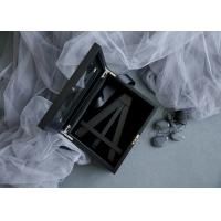 Best Customized Wood Gift Packaging Boxes Black Color With Lacquer For Bamboo Easel wholesale