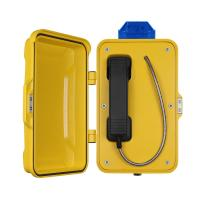 Best Auto Dial Industrial VoIP Phone , Aluminum Alloy Rugged Sip Phone With Warning Lamp wholesale