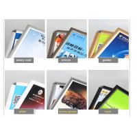 Best Wall Mounted Black Poster Picture Frames, Waterproof Silver Clip Frames For Exhibition wholesale