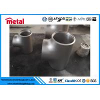 China Incoloy 825 Nickel Alloy Pipe Fittings Equal Tee For Oil Gas Sewage Transport on sale