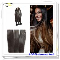 China Top Grade Natural Looking Remy Double Drawn Hair Extensions for Black Woman on sale
