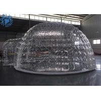 Best Outdoor Transparent Inflatable Dome Tent For Mobile Hotel / Clear Igloo Tent wholesale