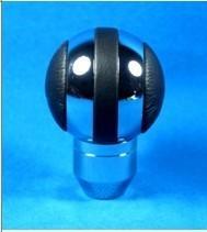 Best Black + Sliver Aluminum Racing Auto Gear Knob For Man , Round Shift Knob wholesale
