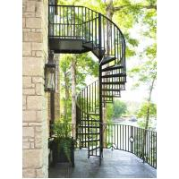 Best outdoor garden balcony american style modern design metal cast iron spiral stairs staircase wholesale