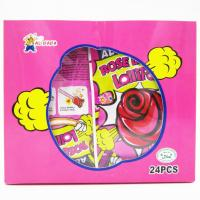 Best Funny lollipop Rose Shaped Lollipops With Fluorescence Stick And Poping Candy/Multi fruit flavor wholesale