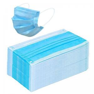 Best Blue Disposable Civilian Masks Stereo Cutting Workmanship For Comfortable Wear wholesale