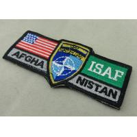Best ISAF Custom Embroidery Patches / Woven America Military Velcro Patches wholesale
