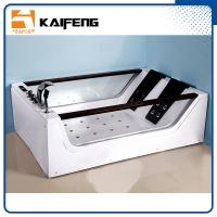Best Double Glass Apron Jacuzzi Whirlpool Bath Tub With Air Switch Control wholesale