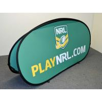 Cheap Custom Popup A Frame Banners , Double Side Pop Up Banner Stands Full Color for sale
