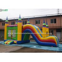 5 In 1 Inflatable Bounce House With Slide , Outdoor Commercial Jumping Castles