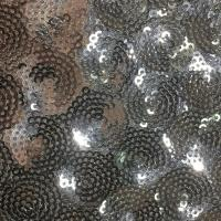 China Fish Scale Glitter Sequin Fabric , Sequin Dress Fabric Reversible Tablecloth on sale