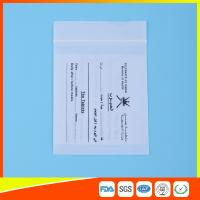 Best Dust Proof Transparent Zip Lock Bag For Pill Packaging , Disposable Pill Pouches wholesale