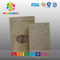 Best Plain Brown Zipper Top Kraft Paper Bag Customized Paper Bags For Pepper Snack Candy wholesale