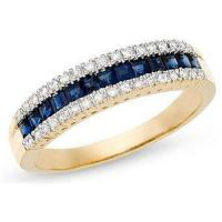 Best Sapphire and Diamond 14K Yellow Gold Ring wholesale