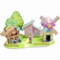Best 3D Puzzle with Full Color Printing in High Quality Paper and Foam wholesale