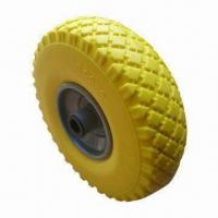 Best 3.00 to 4 Inches PU Foam Wheel, Flat Free Tire, Used for Hand Trolley, Tool Cart and Machine wholesale