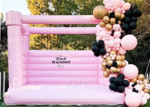 Best Pink Castle Inflatable Jumping Commercial Bounce House / Bouncy Castle For Kids wholesale