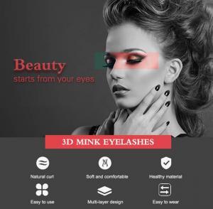 Best Natural Black Fur 0.05mm 3D Mink False Eyelashes wholesale