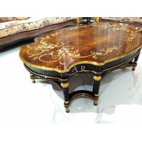 Best Wholesale Chinese Style Antique Square Gold Tea Table TT-028A wholesale