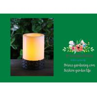 Cheap White Plastic Candle Solar Garden Lights Battery Operated With Black Wick  shrinkwrap+belly band 17x17x12cm 3.33kgs/ctn for sale