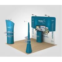 Best Single side 20Ft Booth Backdrop Tension Fabric Displays with Zipper Closure wholesale