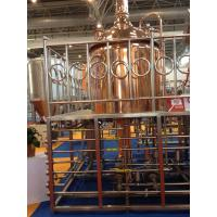 Best Red Copper Commercial Beer Brewing Equipment 100MM Insulation Thickness wholesale