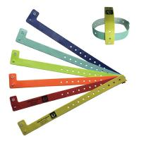 Best PVC 125khz Active RFID Chip Wristband Dust Proof One Time Use Easy Wearing wholesale