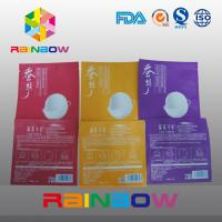 Best Three Side Seal Cosmetic Packaging Bags With Tear Notch , Facial Mask Pouch wholesale