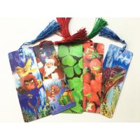 Buy cheap Eco-friendly Lenticular 3D Bookmarks PET Material With Tassel Customized from wholesalers