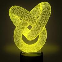 Best Love & Heart Shape LED 3D Optical Illusion Smart 7 Colors Night Light Table Lamp with USB Cable wholesale