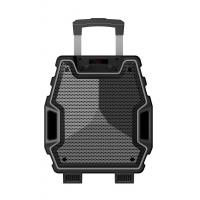 China 8 Inch Outdoor Black Color Portable  Plastic Body Speaker System With Bluetooth Function on sale