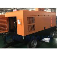 Best Easy To Move Diesel Powered Air Compressor , 90 CFM Portable Air Compressor wholesale